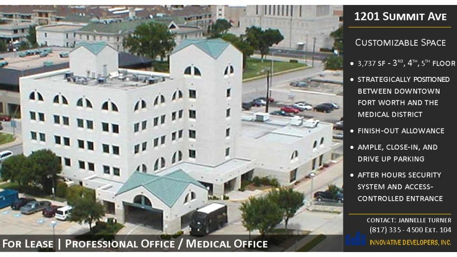 Strategically positioned between downtown Fort Worth and the medical district